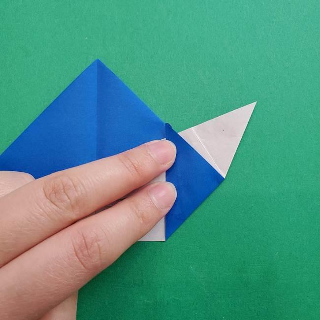 ポケモンの折り紙 アシマリの折り方作り方(28)