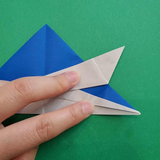 ポケモンの折り紙 アシマリの折り方作り方(29)