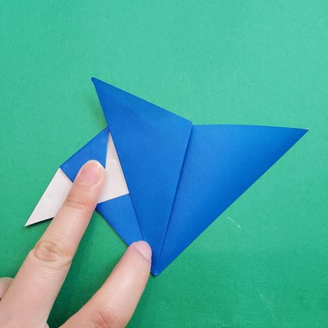 ポケモンの折り紙 アシマリの折り方作り方(33)