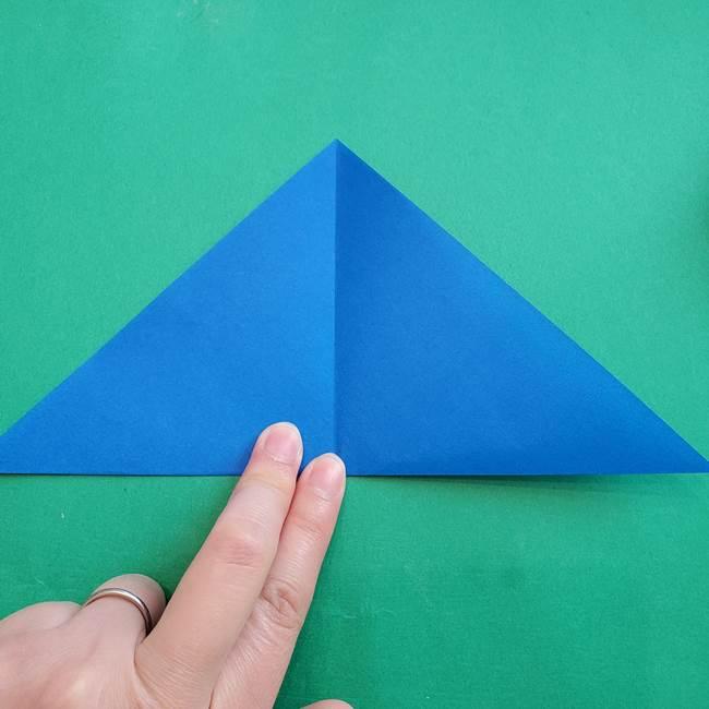 ポケモンの折り紙 アシマリの折り方作り方(4)