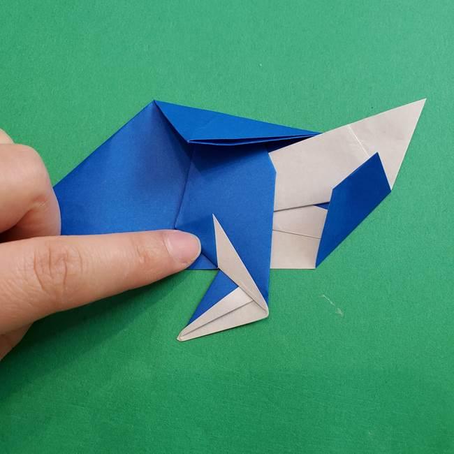 ポケモンの折り紙 アシマリの折り方作り方(40)