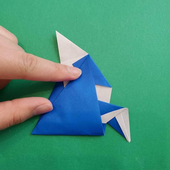 ポケモンの折り紙 アシマリの折り方作り方(42)