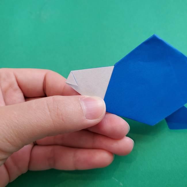 ポケモンの折り紙 アシマリの折り方作り方(45)