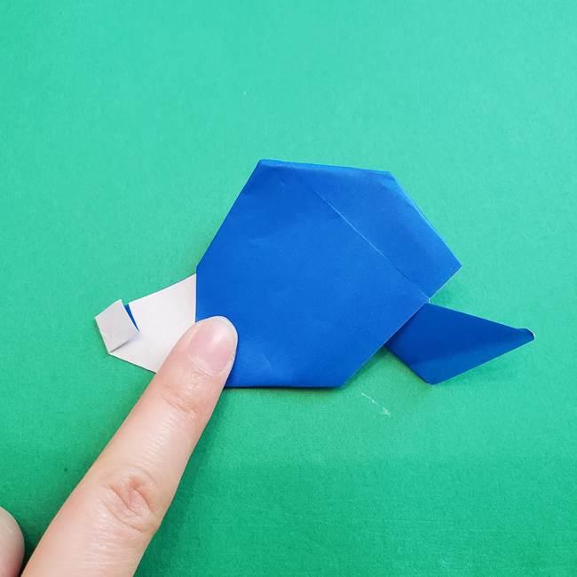 ポケモンの折り紙 アシマリの折り方作り方(47)