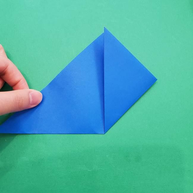 ポケモンの折り紙 アシマリの折り方作り方(5)