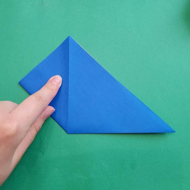 ポケモンの折り紙 アシマリの折り方作り方(6)