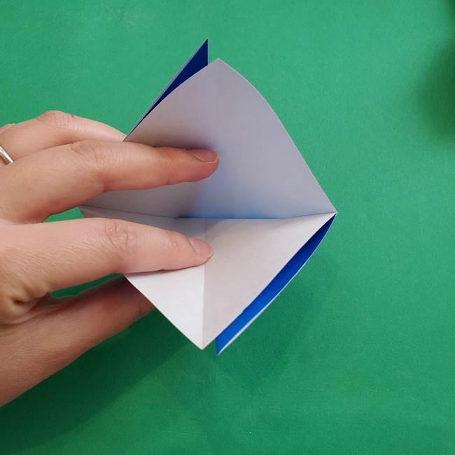 ポケモンの折り紙 アシマリの折り方作り方(8)