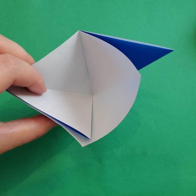 ポケモンの折り紙 アシマリの折り方作り方(9)