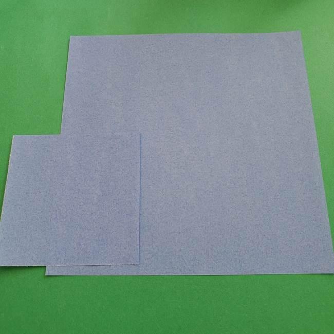 ポケモンの折り紙 ゼニガメ*用意するもの(1)