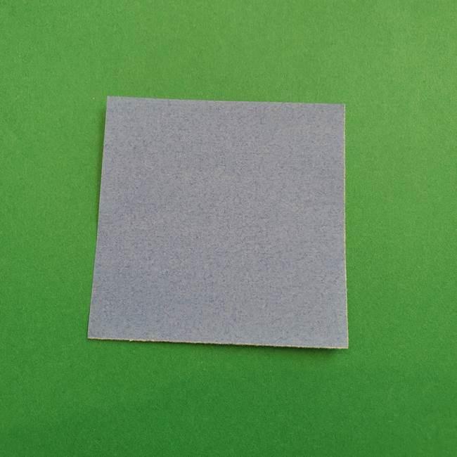 ポケモンの折り紙 簡単なゼニガメの折り方作り方①顔(1)