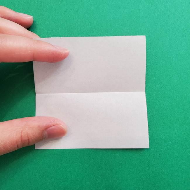 ポケモンの折り紙 簡単なゼニガメの折り方作り方①顔(3)