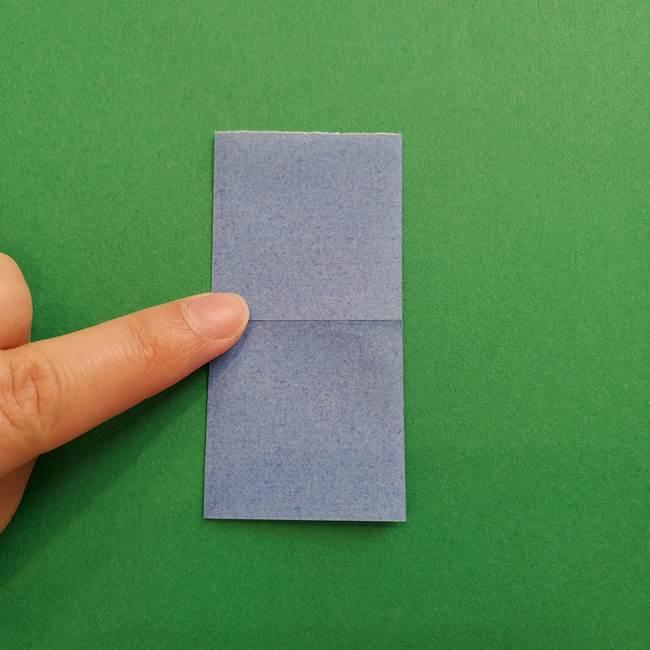 ポケモンの折り紙 簡単なゼニガメの折り方作り方①顔(4)