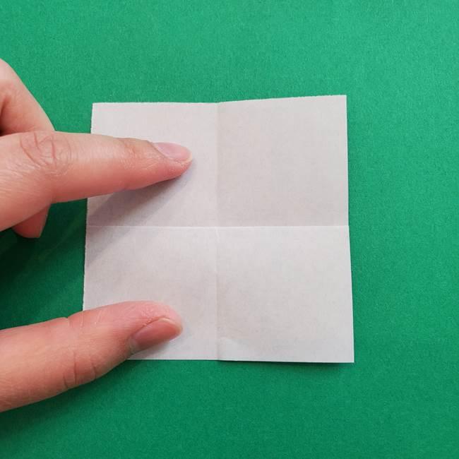 ポケモンの折り紙 簡単なゼニガメの折り方作り方①顔(5)