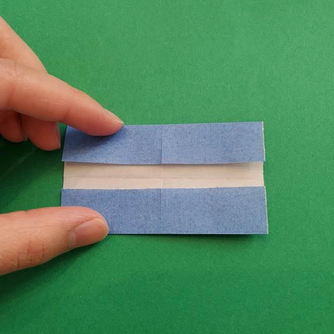 ポケモンの折り紙 簡単なゼニガメの折り方作り方①顔(6)
