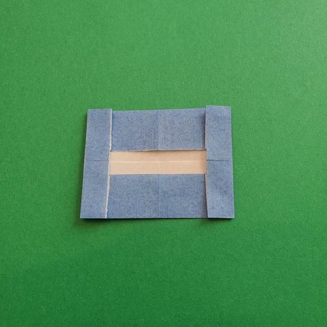 ポケモンの折り紙 簡単なゼニガメの折り方作り方①顔(7)