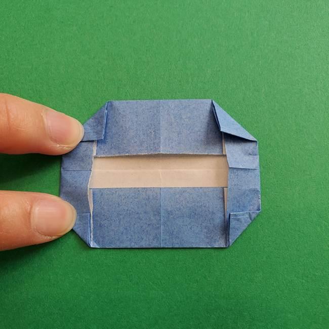 ポケモンの折り紙 簡単なゼニガメの折り方作り方①顔(8)