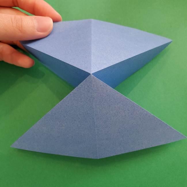 ポケモンの折り紙 簡単なゼニガメの折り方作り方②体(10)