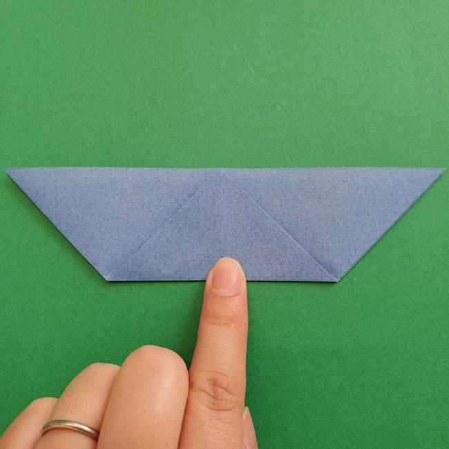 ポケモンの折り紙 簡単なゼニガメの折り方作り方②体(12)