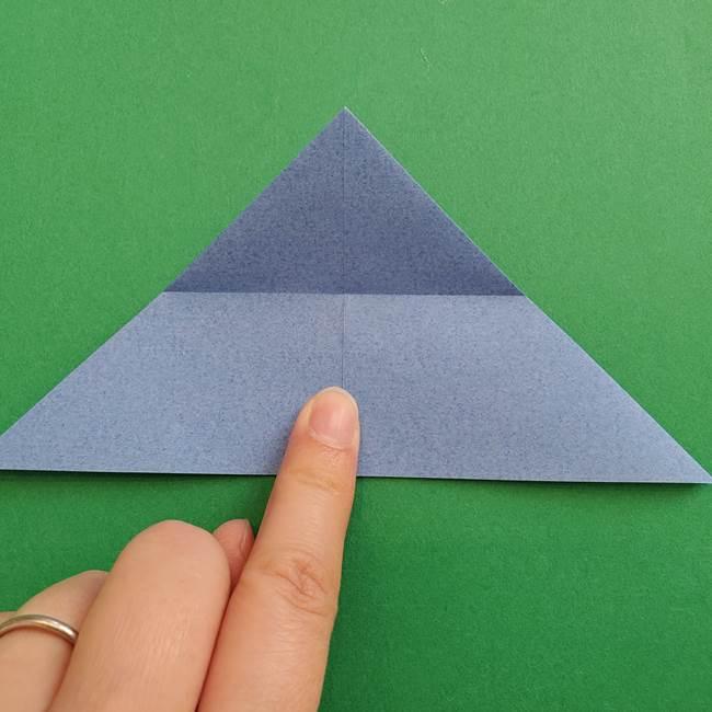 ポケモンの折り紙 簡単なゼニガメの折り方作り方②体(13)