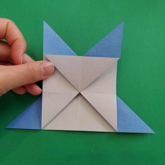 ポケモンの折り紙 簡単なゼニガメの折り方作り方②体(19)