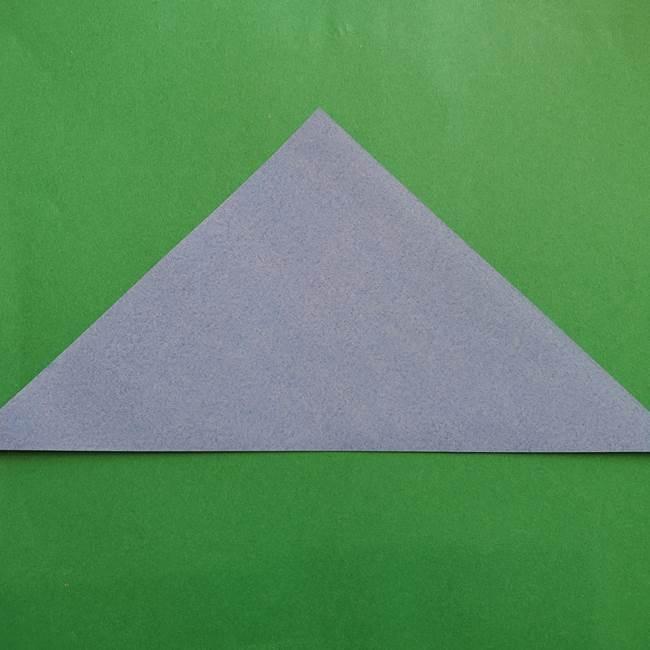 ポケモンの折り紙 簡単なゼニガメの折り方作り方②体(2)