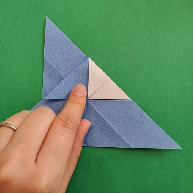 ポケモンの折り紙 簡単なゼニガメの折り方作り方②体(21)