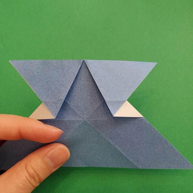 ポケモンの折り紙 簡単なゼニガメの折り方作り方②体(23)