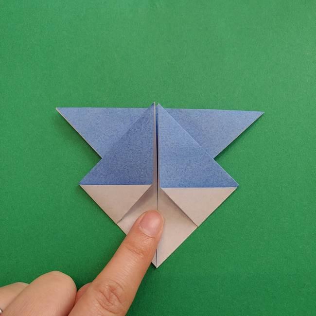 ポケモンの折り紙 簡単なゼニガメの折り方作り方②体(26)