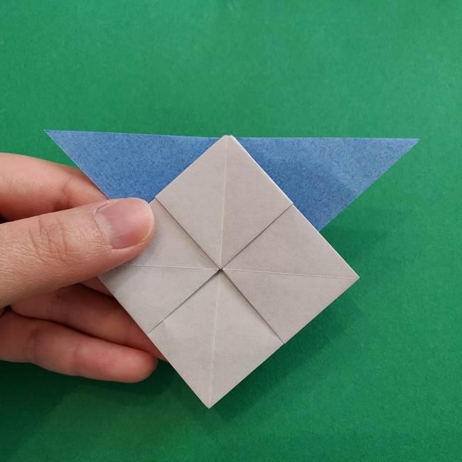 ポケモンの折り紙 簡単なゼニガメの折り方作り方②体(27)
