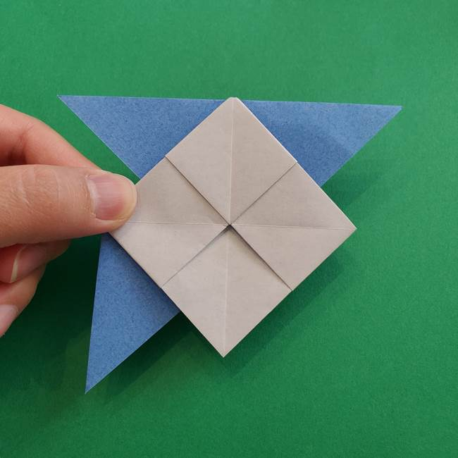 ポケモンの折り紙 簡単なゼニガメの折り方作り方②体(28)