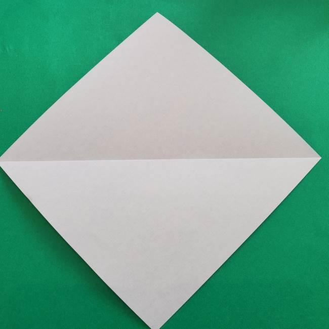 ポケモンの折り紙 簡単なゼニガメの折り方作り方②体(3)