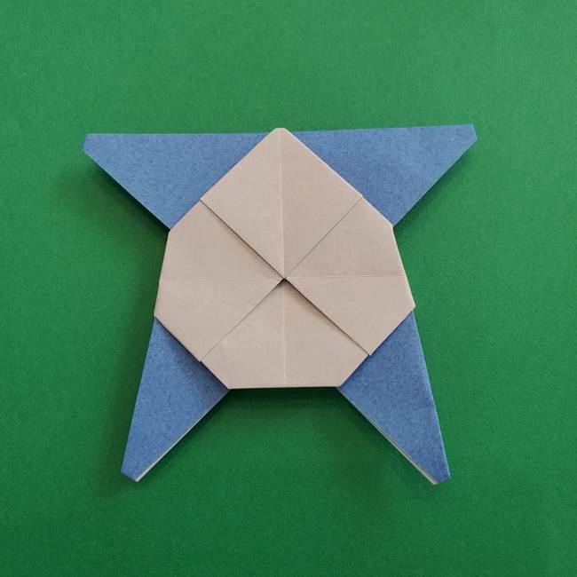 ポケモンの折り紙 簡単なゼニガメの折り方作り方②体(35)