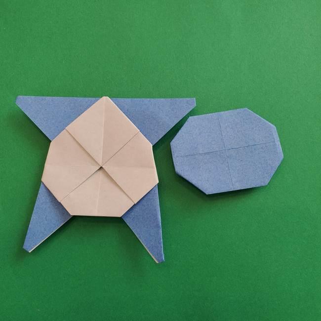 ポケモンの折り紙 簡単なゼニガメの折り方作り方②体(36)