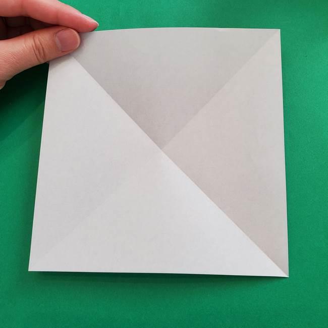 ポケモンの折り紙 簡単なゼニガメの折り方作り方②体(5)