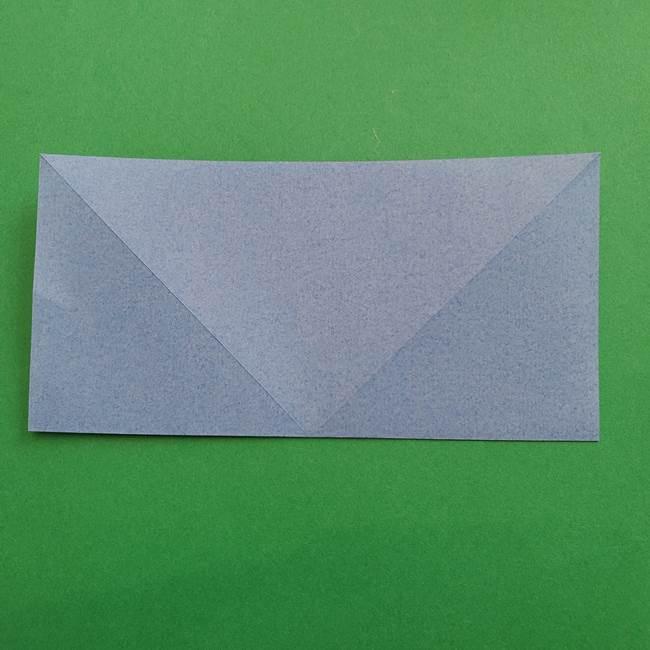 ポケモンの折り紙 簡単なゼニガメの折り方作り方②体(6)