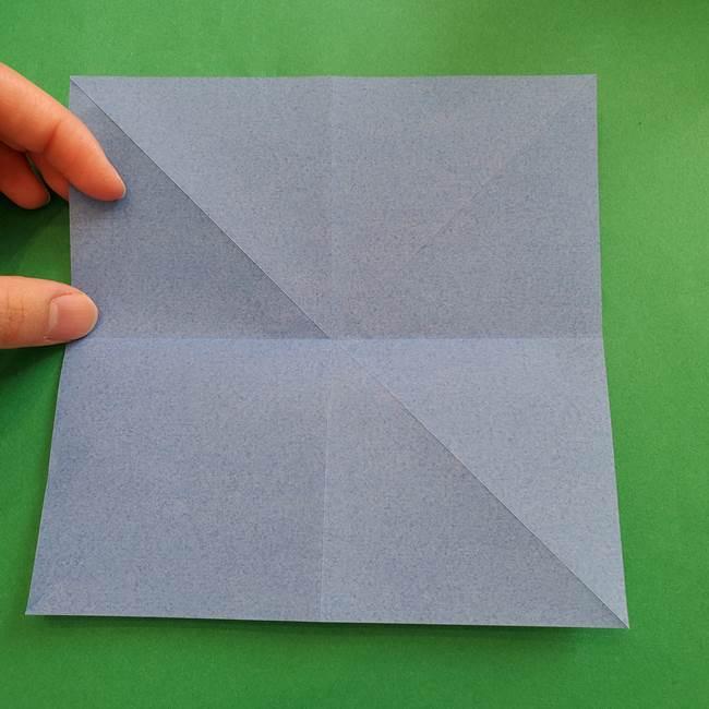 ポケモンの折り紙 簡単なゼニガメの折り方作り方②体(9)
