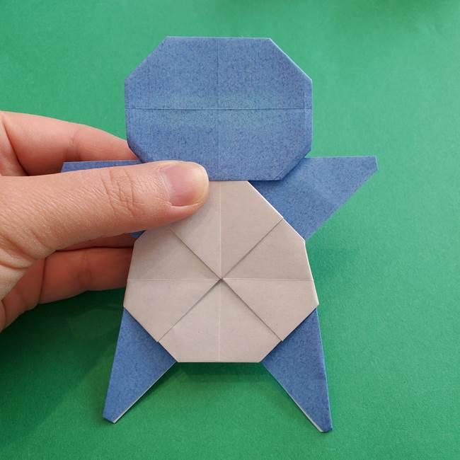 ポケモンの折り紙 簡単なゼニガメの折り方作り方③完成(1)