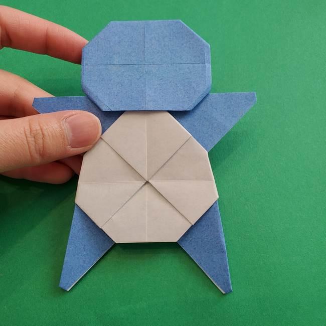 ポケモンの折り紙 簡単なゼニガメの折り方作り方③完成(3)