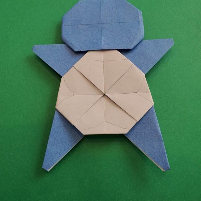 ポケモンの折り紙 簡単なゼニガメの折り方作り方③完成(4)