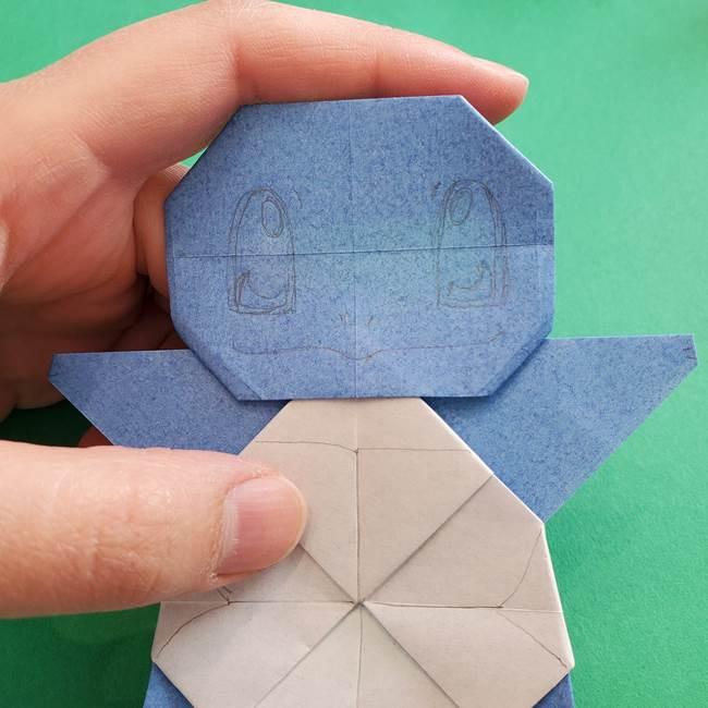 ポケモンの折り紙 簡単なゼニガメの折り方作り方③完成(5)