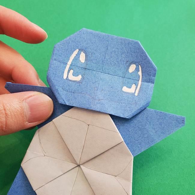 ポケモンの折り紙 簡単なゼニガメの折り方作り方③完成(6)