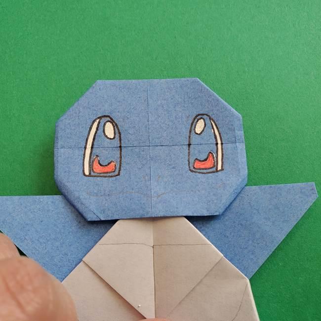ポケモンの折り紙 簡単なゼニガメの折り方作り方③完成(7)