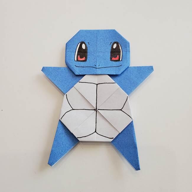 ポケモンの折り紙 簡単なゼニガメの折り方作り方★かわいい人気キャラ