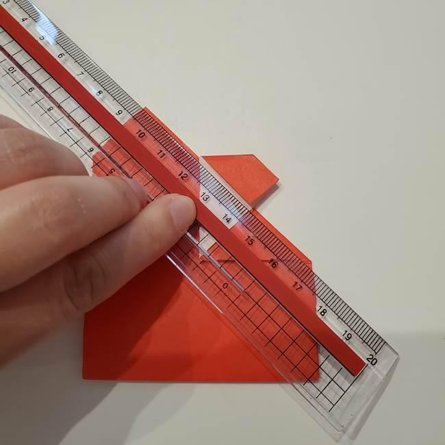 七夕の巾着の折り方作り方①四角(25)