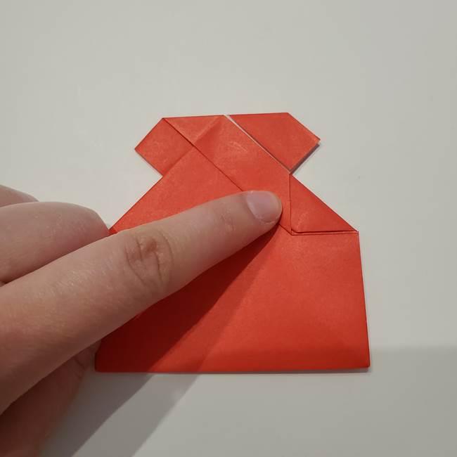 七夕の巾着の折り方作り方①四角(33)