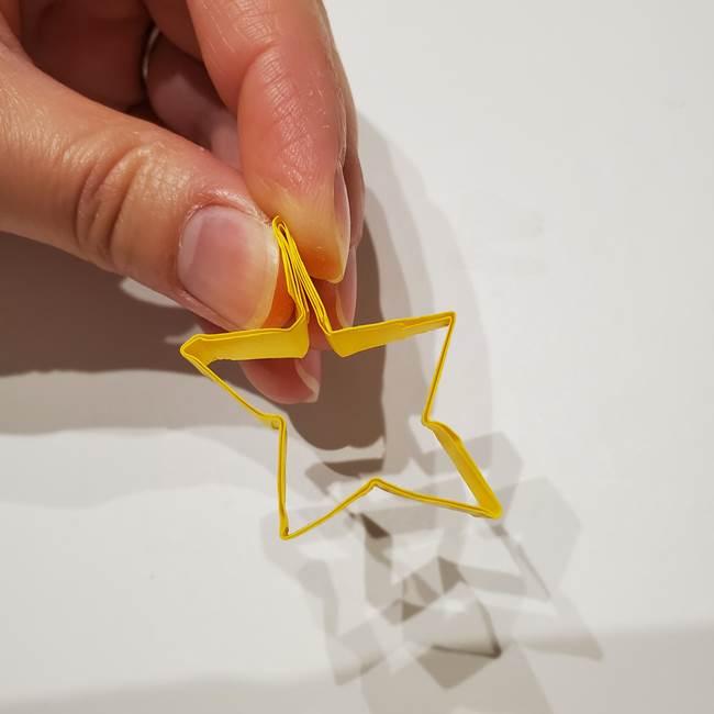 七夕の箸置きの折り紙☆かわいい星型の作り方折り方(18)