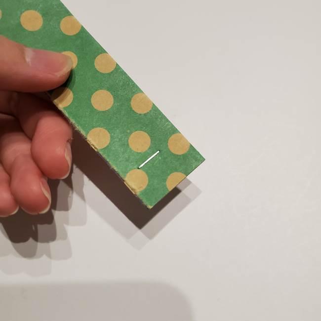 七夕飾りに☆折り紙のハートつづりの作り方折り方②繋げ方(4)