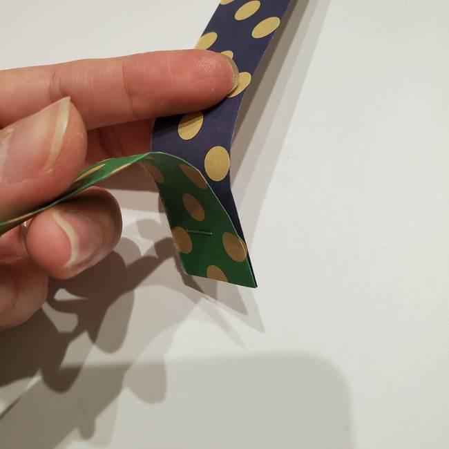 七夕飾りに☆折り紙のハートつづりの作り方折り方②繋げ方(5)