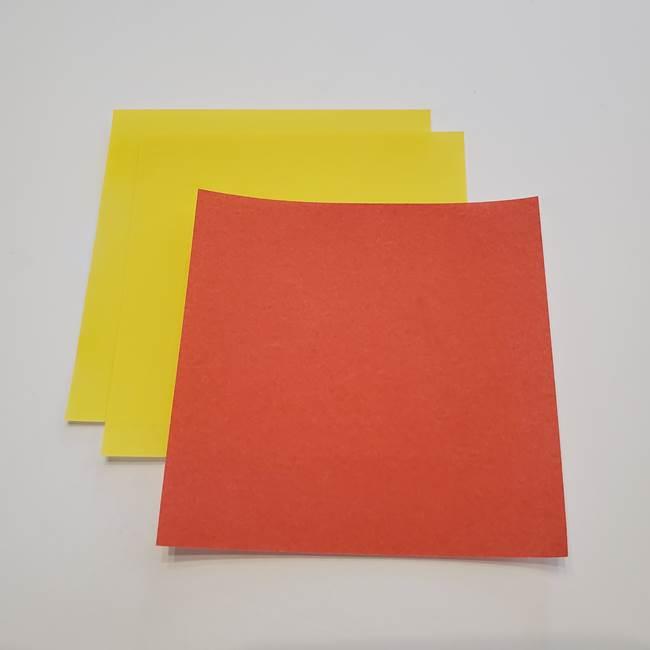 折り紙でつくるひまわりのメダルとコースター(1)