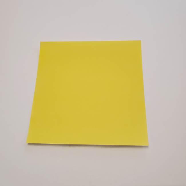 折り紙のひまわり メダルとコースターの折り方作り方①花びら(1)